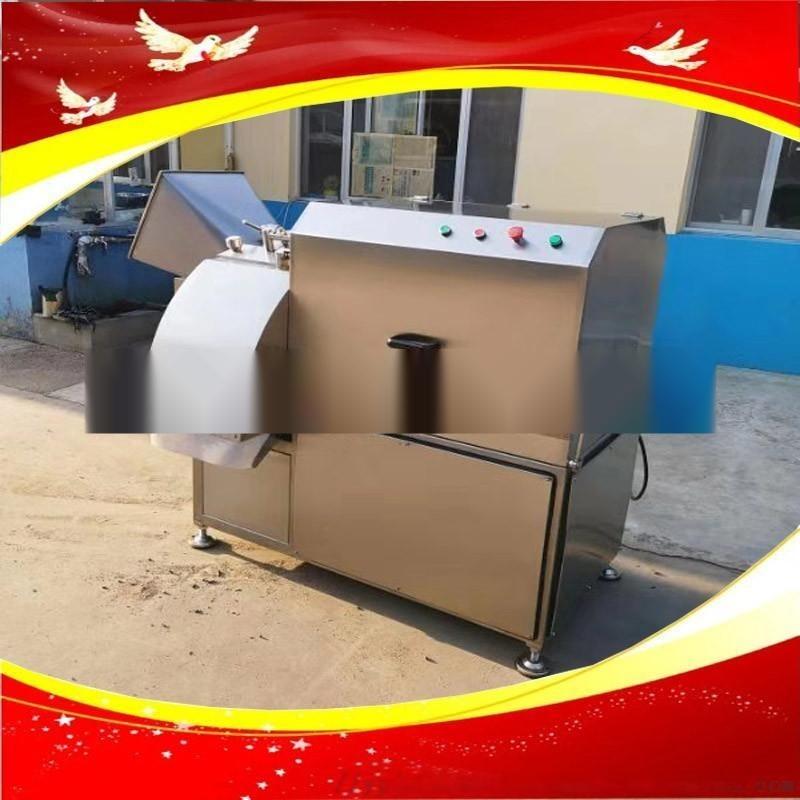 鲜冻肉带皮五花肉切丁机 全自动切肉丁机生产厂家诸城