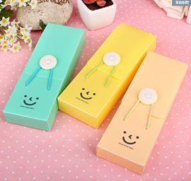 创意PP文具盒定制 糖果色松紧带塑料笔盒 可爱铅笔盒 礼品盒