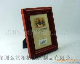 外贸出口原单木制相框,欧式古典纯实木5寸酒红色仿古相框,相架