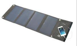折叠太阳能充电器 15W 21W 28W高效户外太阳能手机充电器折叠包
