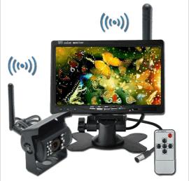 车载7寸支架无线液晶显示器 无线大巴摄像头 无线倒车影像系统