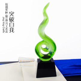 广州琉璃奖杯 琉璃工艺品摆件 工艺礼品厂家