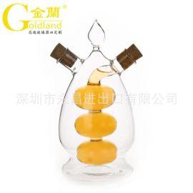 定制高硼硅玻璃调味瓶玻璃油醋瓶深圳厂家