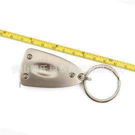 稳泰卷尺1米金属不锈钢外壳钢卷尺钥匙扣精致促销礼品尺