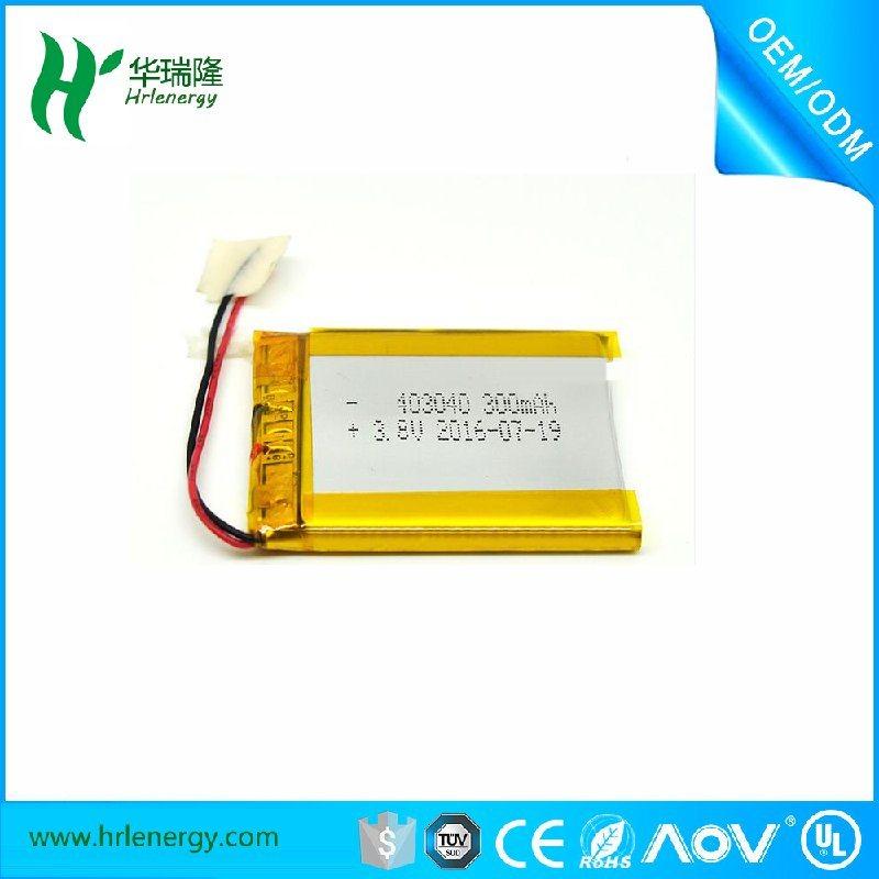 452445-350mah聚合物电池