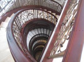 酒店工程 楼梯铁栏杆 楼梯铁护栏 铁艺楼梯栏杆