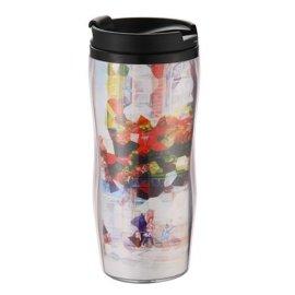 咖啡杯,双层塑料杯,创意水杯