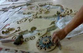 天然大理石水刀拼花可定制 水头大理石精加工可定制