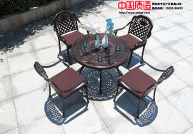 广州厂家直供户外休闲防腐铸铝桌椅
