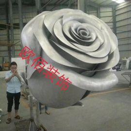 定制铝制工艺品铝玫瑰花,造型双曲板