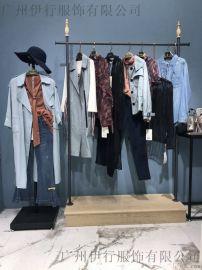 广州羽沙国际品牌折扣女装库存份货打包走份拿货渠道