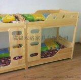 成都自贡幼儿园实木儿童床 幼儿床定制