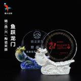 魚躍龍門水晶獎牌 慶典活動/賽事陶瓷水晶獎牌/擺件