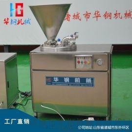 30型双管不锈钢液压灌肠机 香肠液压灌制机