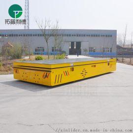无轨道铺设的平板运输车黑色橡胶轮防滑耐磨