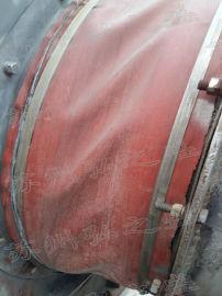 天津红色硅胶布伸缩软连接