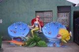 長沙 玻璃鋼雕塑 海洋系列美人魚 樹脂雕塑 擺件