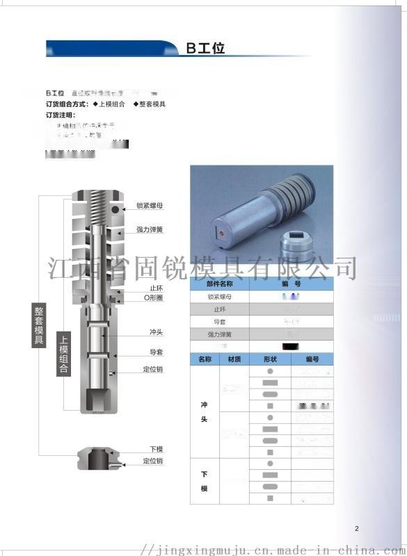 厚转塔模具标准85系列B工位