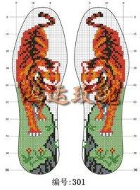 十字绣针孔鞋垫 - 1