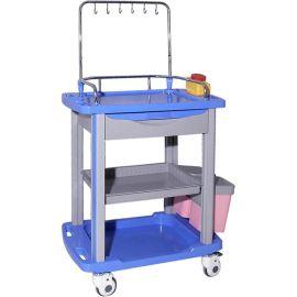 SKR054-IV 输液车 双层台面输液推车 多功能推车 医用护理推车
