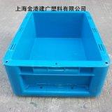 厂家直销 塑料物流箱 400*300*147 加盖塑胶周转箱 HDPE塑料箱