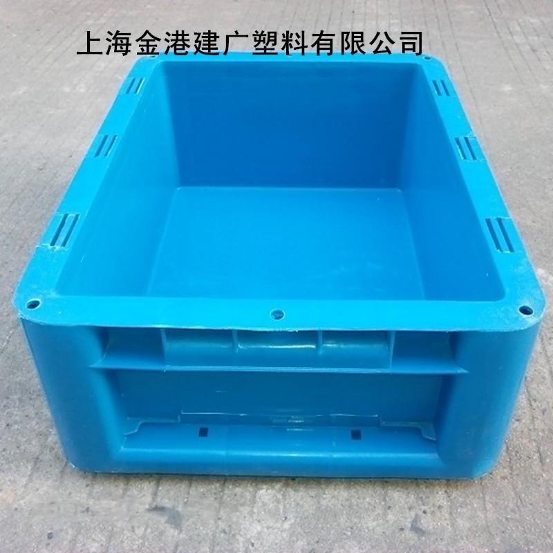 廠家直銷 塑料物流箱 400*300*147 加蓋塑膠週轉箱 HDPE塑料箱
