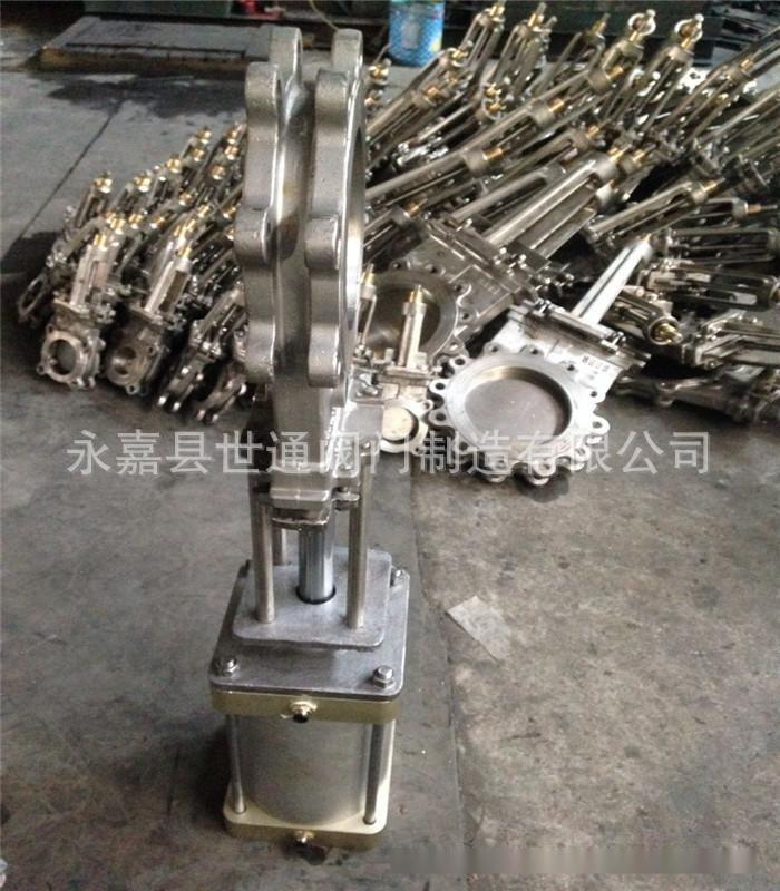 美標刀型閘閥 氣動不鏽鋼漿閘閥 150LB