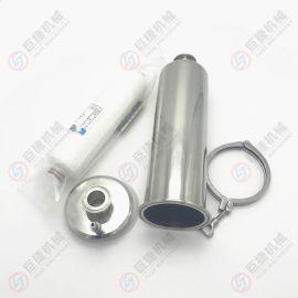 带排气阀管道过滤器 巨捷气体过滤器