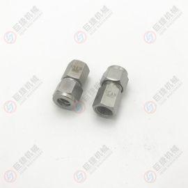 内螺纹卡套终端 螺纹卡套接头卡套式管接头1/4-08内螺纹卡套接头