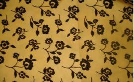 印花植绒春亚纺 春亚纺植花植绒布