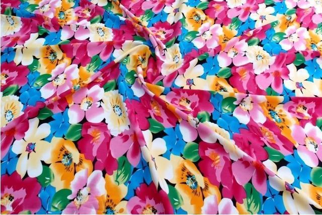 人造棉绸布料 碎花桑绵绸 丝光棉布