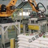 干粉砂浆包装机器人码垛机 码垛机械手生产线
