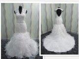 最新款高档蕾丝款外贸品质大拖尾婚纱