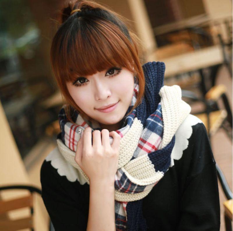 北京青年同款 新款**毛线针织围巾【龙爱针织】