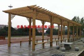 青岛木廊架,葡萄架,木花架工程