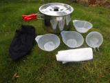 綠捷戶外用品套鍋 野炊鍋具 露營戶外炊具套裝 3-4人 LJ-9018
