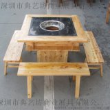 厂家订做餐厅桌椅 实木家具 网吧桌椅 火锅桌椅
