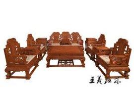 缅甸花梨沙发保养有道 王义红木古典家具行业**者