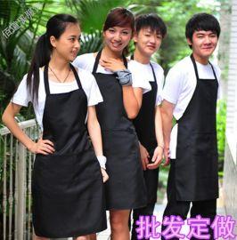 围裙定制logo韩版广告围裙印字工作服厨房定做时尚超市服务员围裙