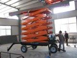 四轮移动式液压平台,固定导轨式升降机