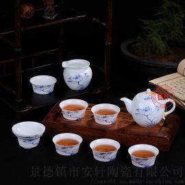新款景德镇手绘青花瓷茶具套装