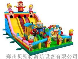 广西玉林儿童充气城堡超级给力游乐设备