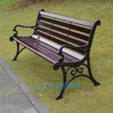 塑木公園椅子休閒長椅鑄鋁塑木靠背公園椅