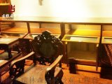 毕节实木中式货柜古典书架、条案厂家定制加工