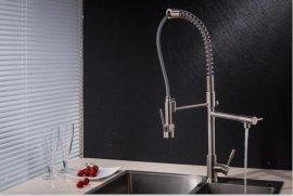 伊品卫浴304不锈钢水槽龙头 洗碗机龙头 弹簧抽拉式厨房龙头 厨房高压花洒厂家直销