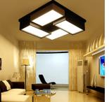 批發現代簡約吸頂燈 客廳黑白方形盒子組合鐵藝亞克力led燈具燈飾