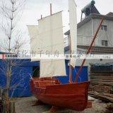 户外海盗装饰船制造商 手工木质帆船