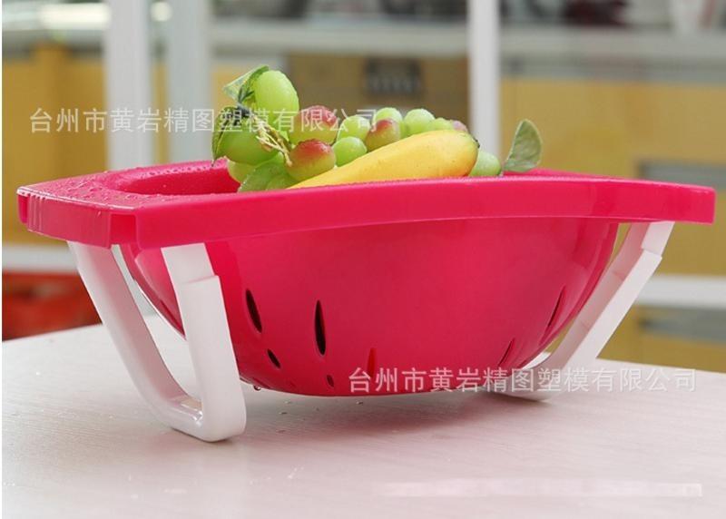 塑料 环保洗菜篮 淘米筛多功能塑料盆