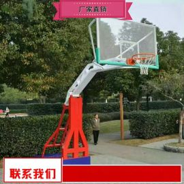 钢化玻璃篮板篮球架新品 室外篮球架真正厂家