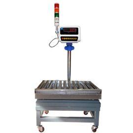 不锈钢滚筒电子秤带滚轮移动式滚筒电子秤可打印时间日期重量品名